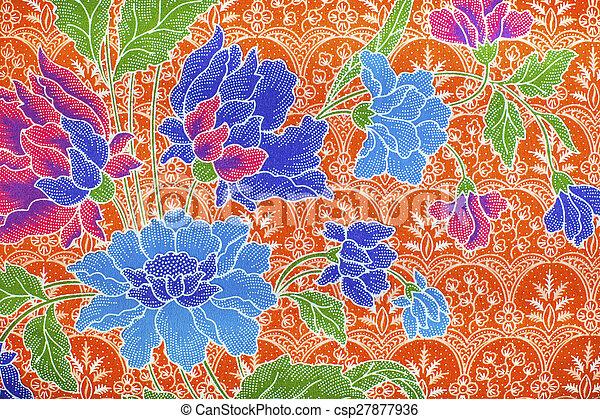 vacker, indones, konst, mönster, malaysiska, batik - csp27877936