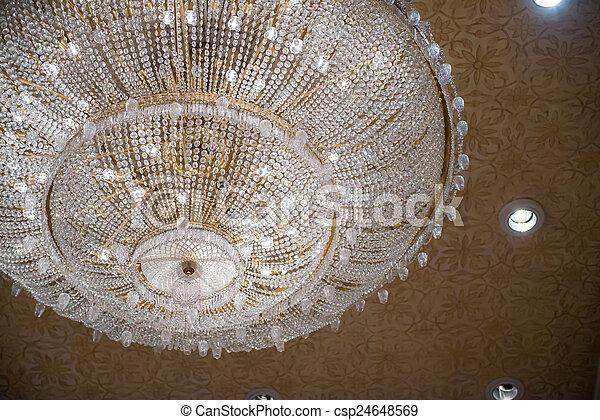 vacker, kristall, dekoration, ljuskrona