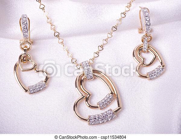 vacker, smycken, bakgrund - csp11534804