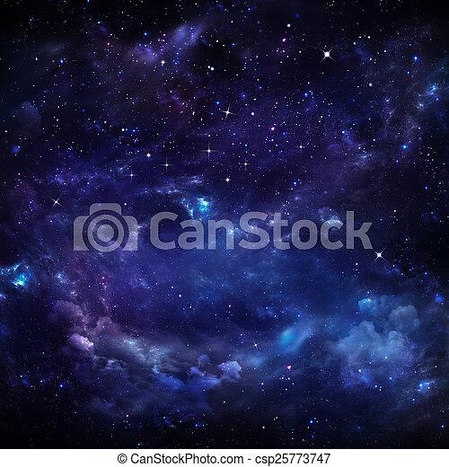vacker, stjärnbeströdd himmel - csp25773747