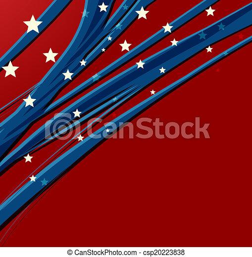 vaderlandslievend, amerikaan, dag, achtergrond, onafhankelijkheid - csp20223838
