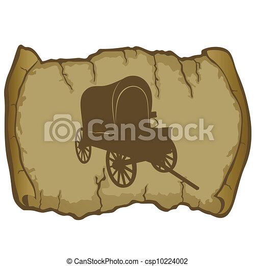 vagão, antigas, pergaminho - csp10224002