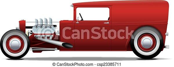 vagão, hot-rod, painel - csp23385711
