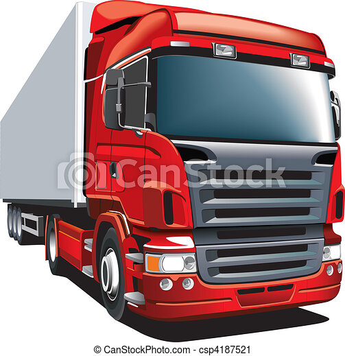 vagão, vermelho - csp4187521