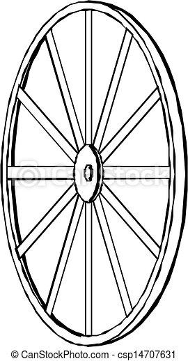 vagão, vetorial, illustration., wheel. - csp14707631