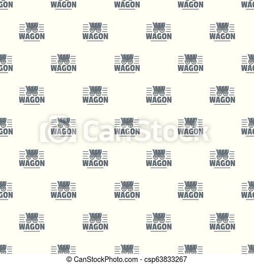 vagão, vetorial, seamless, padrão - csp63833267