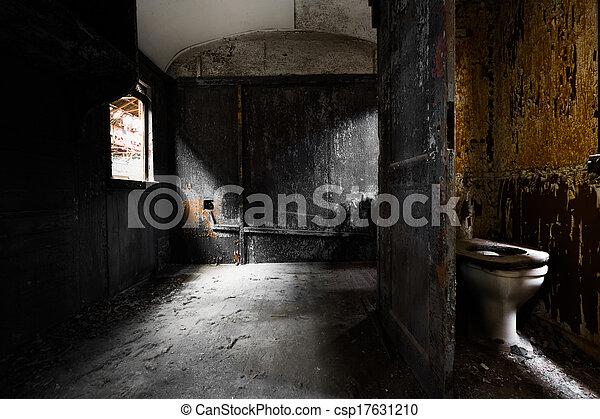 vagón, viejo, detalle, tren, interior, desordenado - csp17631210