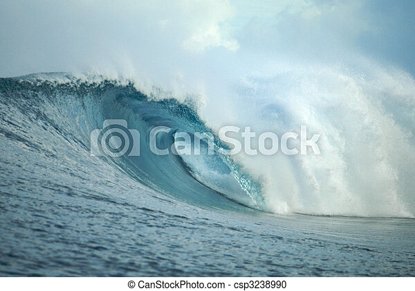 vague, mentawai, indonésie, vide, îles - csp3238990