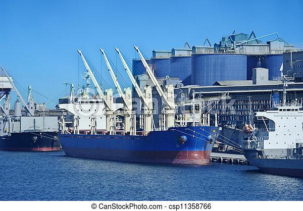 vaisseau, chargement, sous - csp11358766