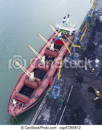 vaisseau, chargement, sous - csp47265812