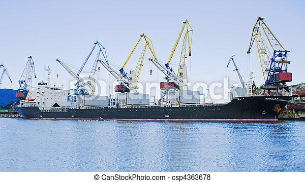 vaisseau, chargement, sous - csp4363678