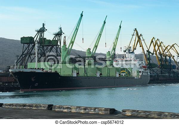 vaisseau, chargement, sous - csp5674012