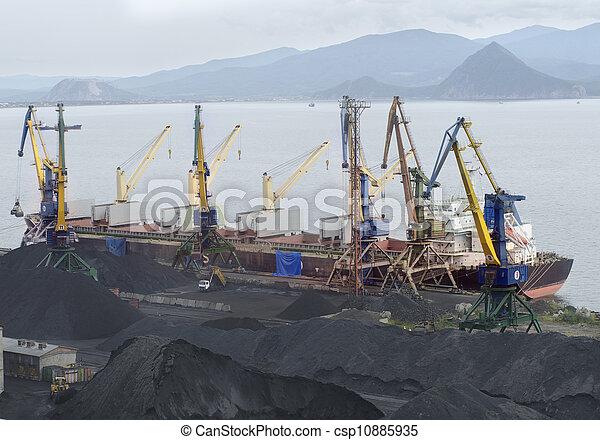 vaisseau, chargement, sous - csp10885935