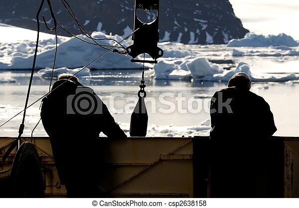 vaisseau, ouvriers, antarctique - csp2638158