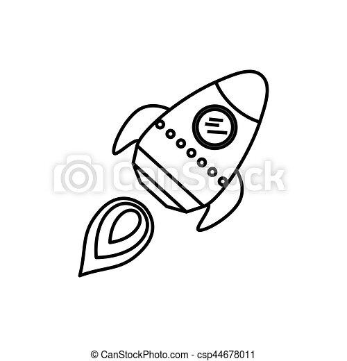 Dessin Vaisseau Spatial vaisseau spatial, fusée, dessin animé. graphique, fusée
