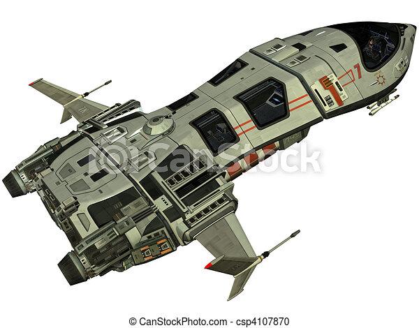 Rendre vaisseau spatial futuriste 3d - Dessin vaisseau spatial ...