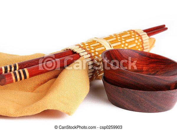 vaisselle, asiatique - csp0259903