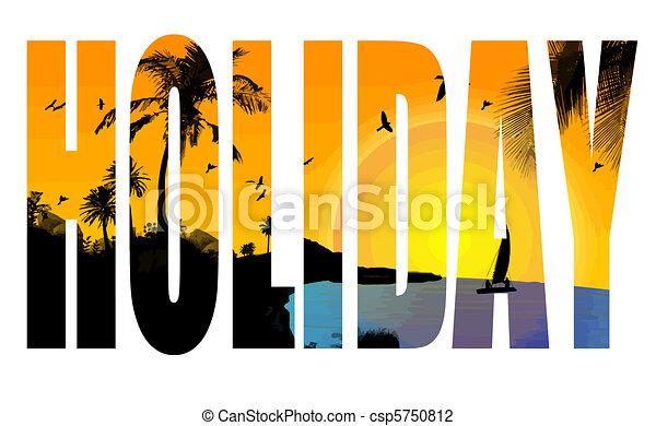 vakantie, titel - csp5750812