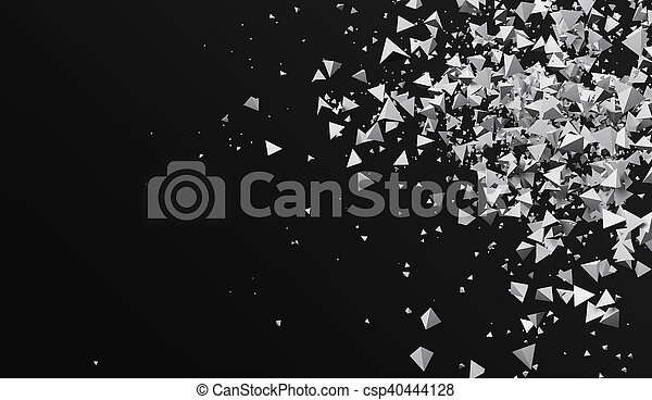 vakolás, elvont, black háttér, 3 - csp40444128
