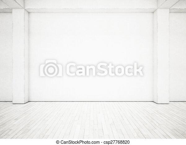 vakolás, fehér, interior., hivatal, 3 - csp27768820