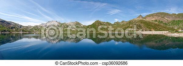 Val sambuco, lake of Naret - csp36092686