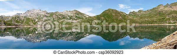 Val sambuco, lake of Naret - csp36092923
