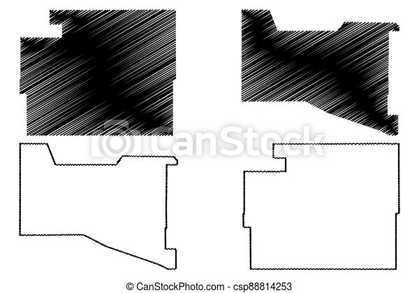 Valencia and Torrance County, New Mexico (U.S. county, United States of America, USA, U.S., US) map vector illustration, scribble sketch map - csp88814253