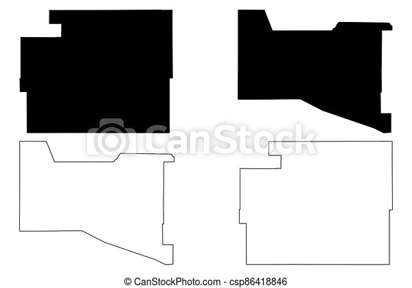 Valencia and Torrance County, New Mexico (U.S. county, United States of America, USA, U.S., US) map vector illustration, scribble sketch map - csp86418846