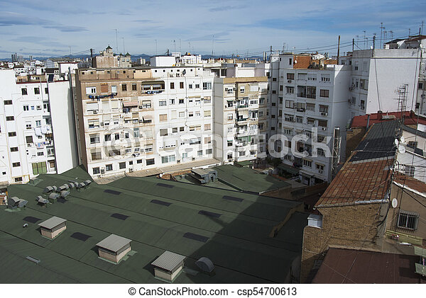 Valencia city roof top view in Spain. - csp54700613