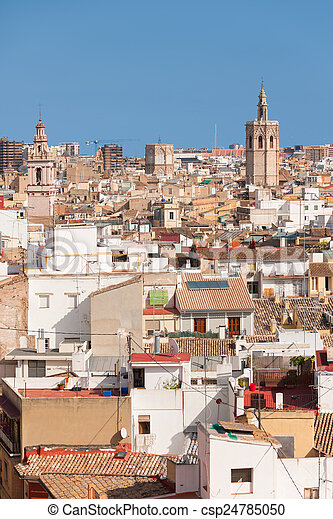 Valencia in a sunny summer day - csp24785050
