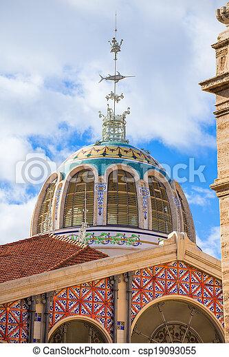 Valencia Mercado Central market outdoor dome Spain - csp19093055