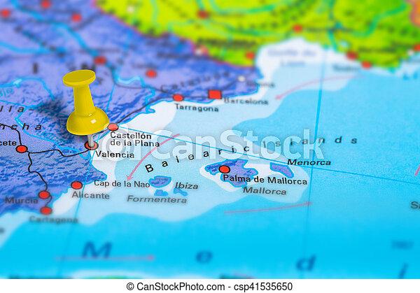 Valencia Map Of Spain.Valencia Spain Map