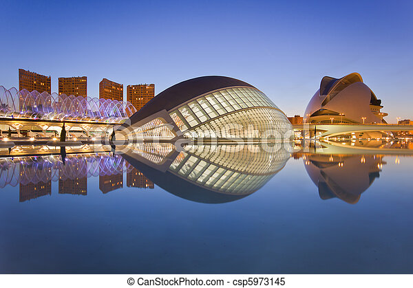 Valencia's City of Arts and Science Museum  - csp5973145