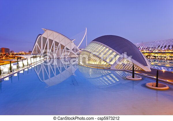 Valencia's City of Arts and Science Museum  - csp5973212