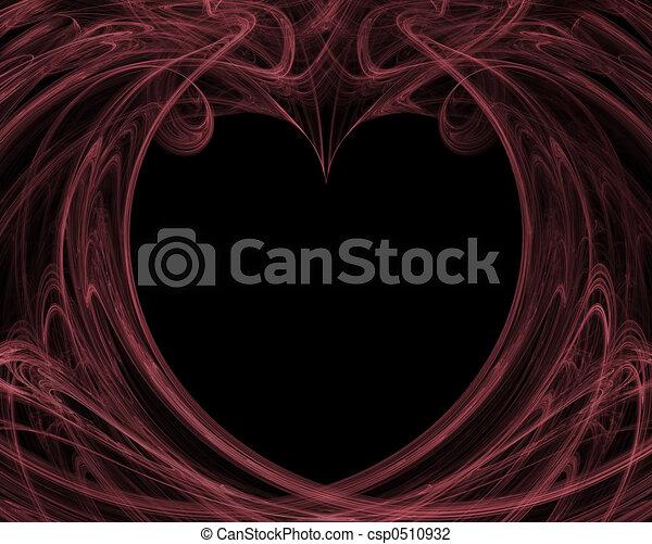 Valentine Background in Pink and Black - csp0510932