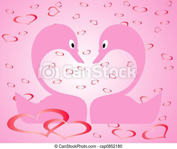 Valentine background, vector illustration  - csp0852180