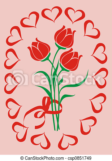 Valentine background, vector illustration  - csp0851749