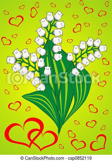 Valentine background, vector illustration  - csp0852119