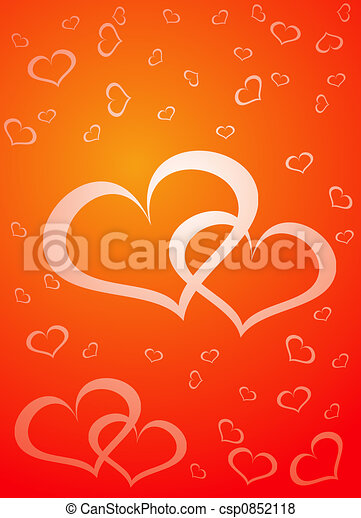 Valentine background, vector illustration  - csp0852118