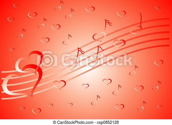 Valentine background, vector illustration  - csp0852128