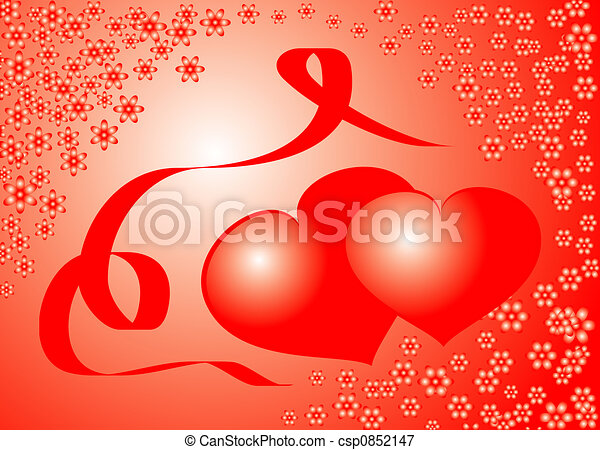 Valentine background, vector illustration  - csp0852147