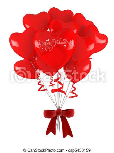 Fesselnd Valentine Balloons   Csp5450159