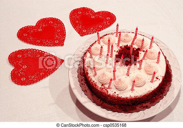 Stupendous Valentine Birthday Cake Close Up Of A Birthday Cake And Red Funny Birthday Cards Online Inifofree Goldxyz