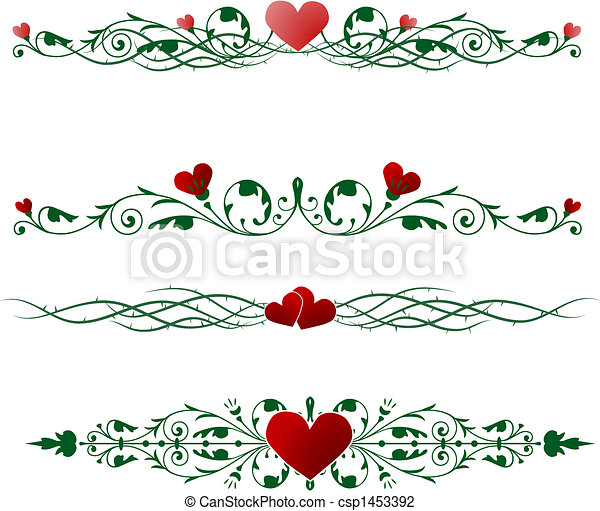 Valentine Borders Vector