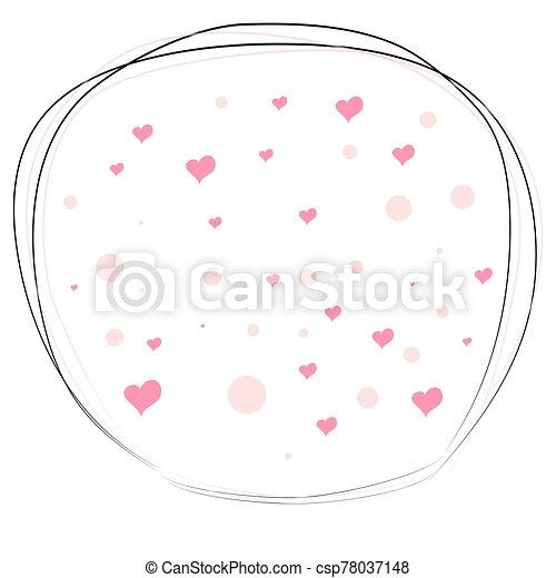 valentine, caer, romántico, s., texture., day., dispersado, corazones, amor, fondo., s - csp78037148
