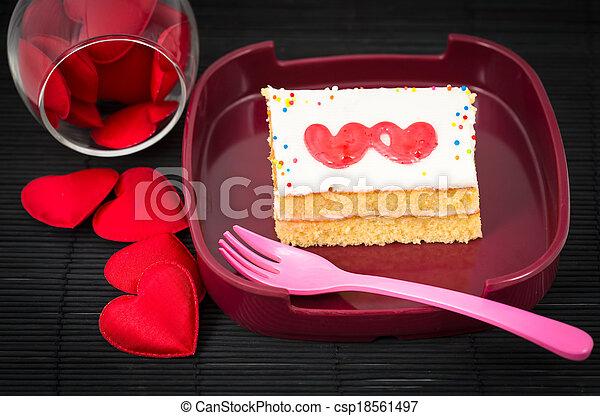 valentine cake - csp18561497
