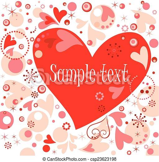 Valentine card - csp23623198