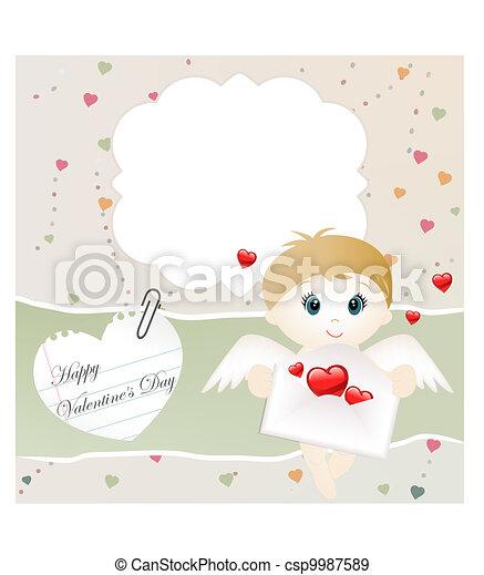Valentine card - csp9987589