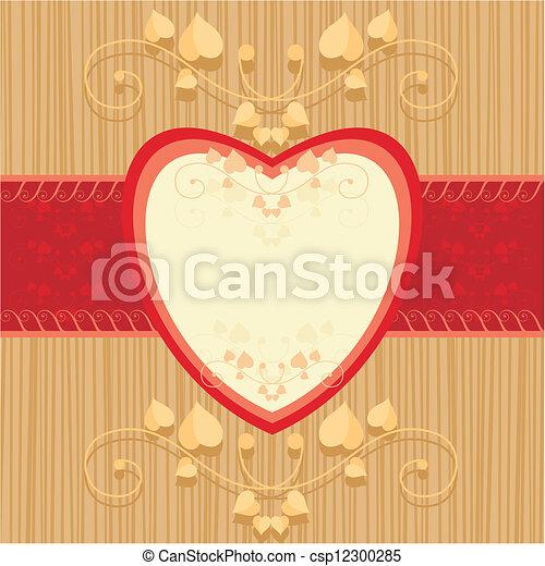 valentine card - csp12300285