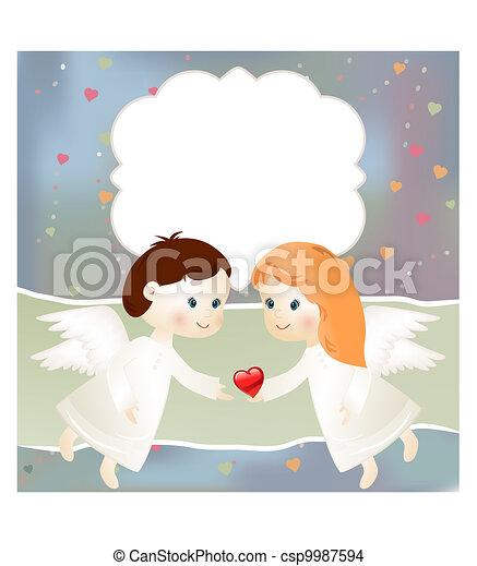 Valentine card - csp9987594